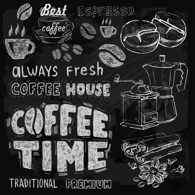 Coffee on Chalkboard by bioraven