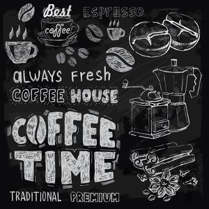 Coffee on Chalkboard by bioraven