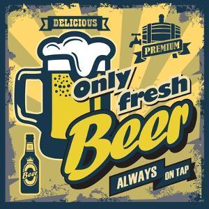 Vintage Beer Sign by bioraven