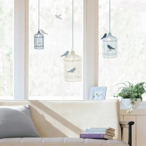 Bird Cages Window Decal Sticker