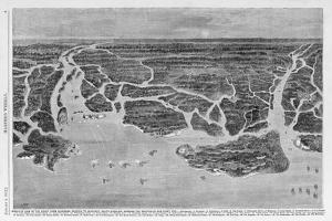 Bird-Eye View of the Coast, from Savannah, Georgia to Beaufort, South Carolina, Showing the Postiti