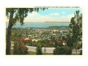 Bird's Eye View of Santa Barbara, California