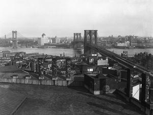 Bird's Eye View of the Brooklyn Bridge