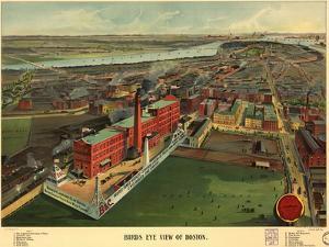 Birds Eye View of Boston - 1902