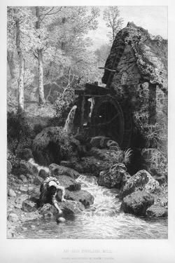 An Old English Mill, 19th Century by Birket Foster