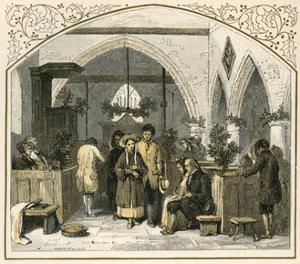 Churchgoing at Xmas by Birket Foster