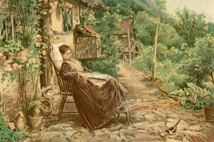Convalescing Woman 19C by Birket Foster