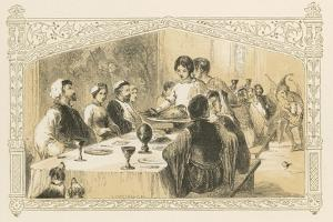 Serving Goose at Banquet by Birket Foster