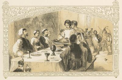 Serving Goose at Banquet