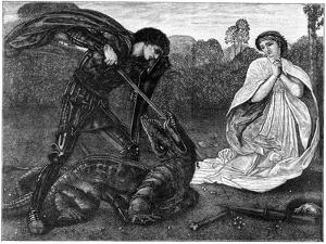 St George and the Dragon, 1930S by Birket Foster