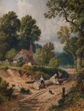 'The Green Lane', 19th century, (1935) by Birket Foster