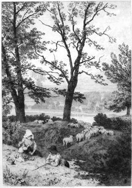 The Little Shepherds, C1930S by Birket Foster