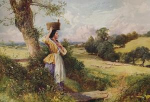 'The Milkmaid', 1860, (c1915) by Birket Foster