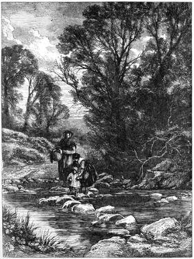 The Stepping Stones, C1930s by Birket Foster