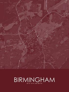 Birmingham, United States of America Red Map
