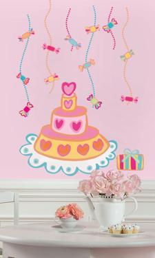 Birthday Cake Peel & Stick Giant Wall Decal