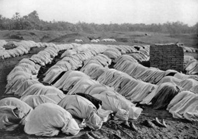 Muslims at Prayer, Algeria, 1920 by Biskra Frechon