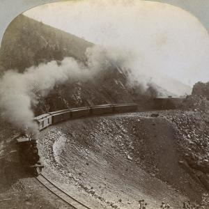 Rounding the Curves on Marshall Pass, Colorado, USA, 1898 by BL Singley