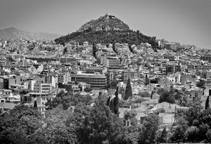 Black and White Athens Greece