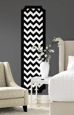 Black and White Chevron Peel and Stick Deco Panel