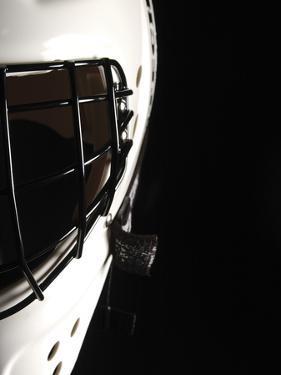 Black and White Goalie Mask