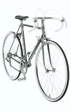 Black and White Photo of 10 Speed Bicycle