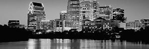Black and White Skyline, Austin, Texas, USA