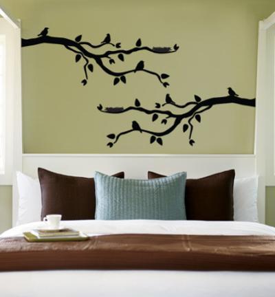 Black Branch With Birds