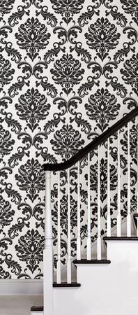Black Damask Peel & Stick Wallpaper