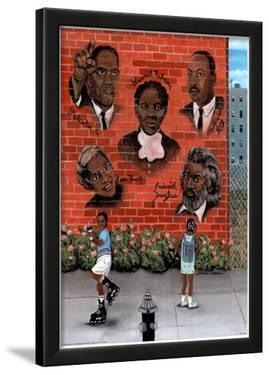 Black History African American MLK Jr. Malcolm X Art Poster