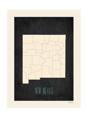 Black Map New Mexico