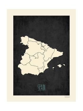 Black Map Spain