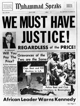 Black Muslim Newspaper, 'Muhammad Speaks', Emphasizes African Americans Abuse, Jun 21, 1963
