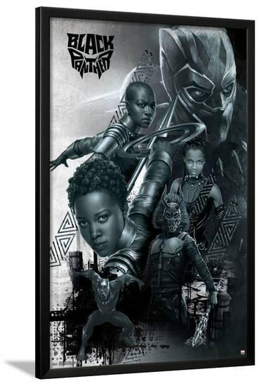 Black Panther - Group--Lamina Framed Poster
