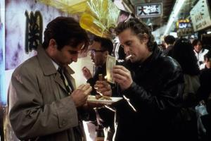 Black Rain by Ridley Scott with Andy Garcia and Michael Douglas, 1989 (photo)