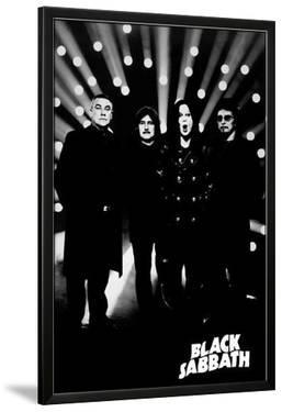 Black Sabbath B&W Music Poster