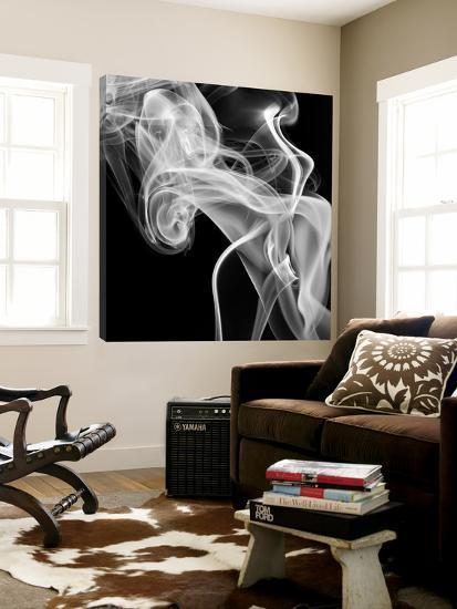 Black Smoke Abstract Square-GI ArtLab-Loft Art