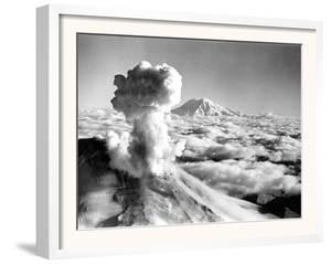 Black Smoke and Ash Drift Skyward as Mount St. Helens Erupts