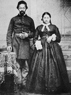 Black Soldier of the Union Army with His Wife, c.1865