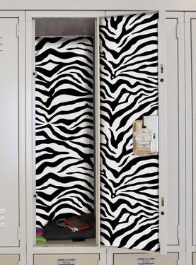 Black & White Zebra Peel & Stick Locker Skins