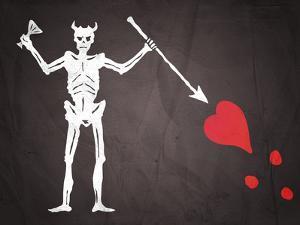 Blackbeard's Pirate Flag Print Poster