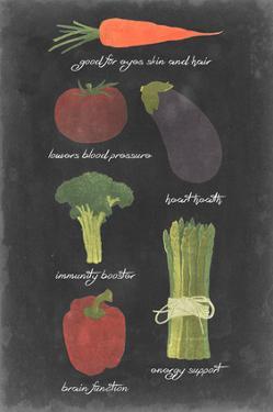 Blackboard Veggies I