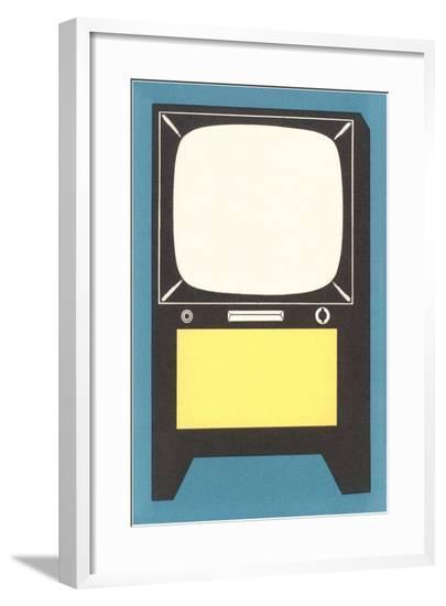 Blank Television Set--Framed Giclee Print
