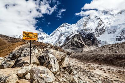 Mount Everest Signpost by blas