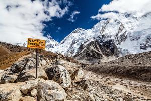 Mount Everest Signpost by blas
