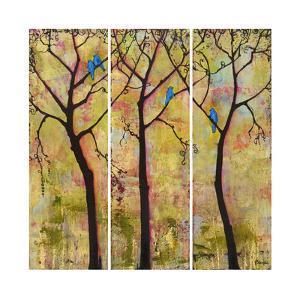 Art Tree Print Triptych by Blenda Tyvoll
