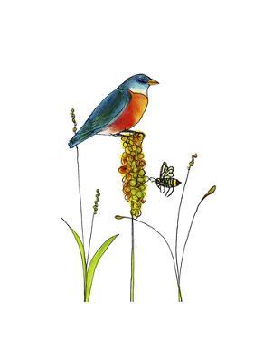 Bluebird on Seeds by Blenda Tyvoll
