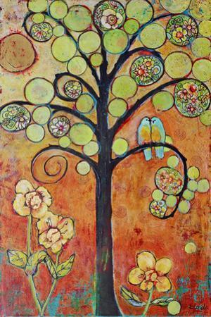 Bluebirds in Paradise Tree Wall Art by Blenda Tyvoll