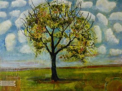 Botanical Print Patterned Sky Tree by Blenda Tyvoll