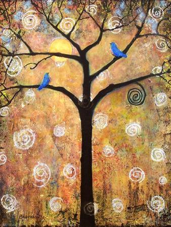 Botanical Seasons New Moon Tree by Blenda Tyvoll